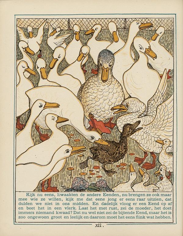"""""""Het leelijke jonge eendje"""" by nl:Theo van Hoytema (1863 – 1917) - [1]. Licensed under Public Domain via Commons."""