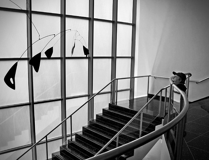 Boy with Alexander Calder Sculpture by Dimitri B. - Flickr